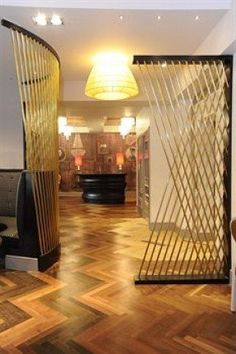 Lobby - I loved the parquet, and the bronze tube