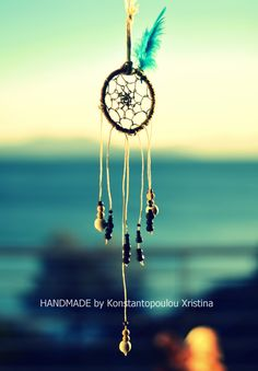 Sweet unique handmade dreamcatcher ! With blue feather.Made with lots of love and full good energy.Send me an email to order : xrikonstantopoulou@hotmail.gr Or dm me on instagram : xrikonstantopoulou