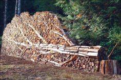 creative ways to stack firewood