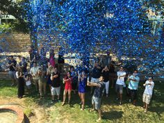Loved my Gender Reveal party ! We used confetti canons and each guest had one ! It's a boy !! Plant Based Mommy Blog
