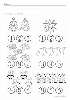 math worksheet : kindergarten counting math worksheet  *cause i m a teacher  : Kindergarten Math Christmas Worksheets