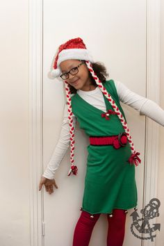 Christmas Elf Costume / Santa Helper Outfit for Girls