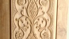 10+ Wonderful Wood Carving Designs In Doors Photos - Wood Carving - Woodcarving101.com Single Door Design, Home Door Design, Front Door Design Wood, Wood Design, House Design, Black Cherry Wood, White Oak Wood, Interior Wood Paneling, Sculpture Techniques