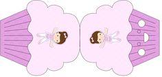Convite Cupcake Bailarina Morena: