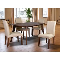 Midtown Concept Carmen Mid-Century 5 Piece Dining Set - FEDTAB_CO_4YVCH CR