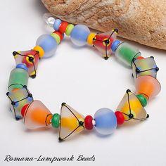 Lampwork Beads by Romana / December 2013 Glass Jewelry, Beaded Jewelry, Glass Beads, Beaded Bracelets, Craft Jewelry, Jewellery, Handmade Beads, Handmade Jewelry, Earrings Handmade