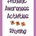 This packet includes 3 activities that focus on the rhyming of words. Included is a game of Concentration, Rhyme Sunadae in which student build an ...