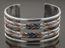 William Spratling Silver and Copper Cuff Bracelet Cca 1950  7.50, .925