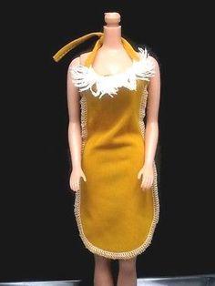 1980 BARBIE BEST BUY OUTFIT #3633 MUSTARD YELLOW DRESS w/ FRINGE superstar era | eBay