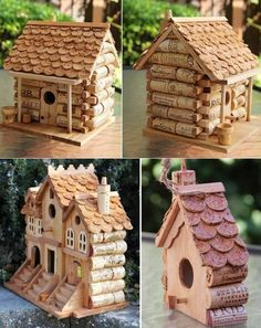 Houses with wine corks More
