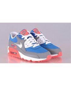 innovative design f1a0b bc6ff Nike Air Max 90 Blue Red Grey White Womens Shoe Sale UK