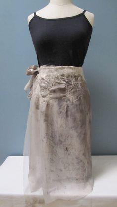 Nuno Felt Wrap Skirt Silk Wool Natural Dyes by UpCycledArt on Etsy, $65.00
