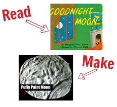 Great craft for Goodnight Moon and 24 other book/ craft pairs!