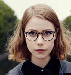 Okrągłe damskie okulary