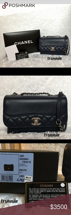 1803ca18d2e3 Chanel Navy Mini Tramezzo Flap Bag Purchased this in March 2016 during my  trip to Singapore