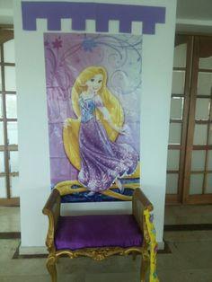 trono de princesa para foto