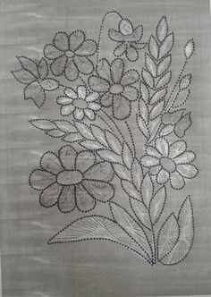 Wonderful Ribbon Embroidery Flowers by Hand Ideas. Enchanting Ribbon Embroidery Flowers by Hand Ideas. Ribbon Embroidery Tutorial, Border Embroidery Designs, Floral Embroidery Patterns, Embroidery Flowers Pattern, Silk Ribbon Embroidery, Crewel Embroidery, Machine Embroidery, Fabric Paint Designs, Fabric Painting