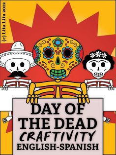 """I love fall for haunted houses, pumpkin EV-UH-REE-THANG, the changing leaves, hoodies, corn mazes, and the list goes on and on... but as a Spanish Teacher, I ALSO love fall because it's DIA DE LOS MUERTOS TIME!!! (commence techno music and strobe lights now). Here's a bilingual Day of the Dead """"Craftivity"""" book for Spanish class!"""