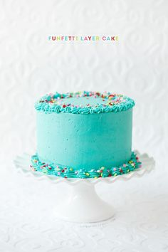 Frosted Funfetti Layer Cake from http://@Lindsay Dillon Landis | Love and Olive Oil