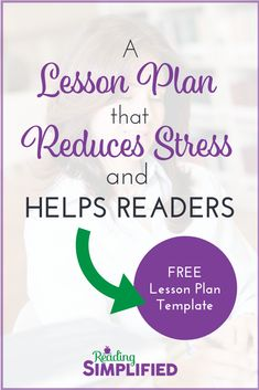 Small group guided reading structure that reduces teacher stress & accelerates student achievement. See how a teacher plans for 2 groups. Plus a FREE lesson plan template. Reading Lessons, Guided Reading, Teaching Reading, Reading Resources, Reading Activities, Reading Skills, Teaching Kids, Free Lesson Plans, Lesson Plan Templates