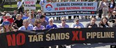 Oil Sands Protest. The tankers are picking up oil from the tar sands.