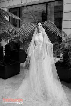 Elie Saab Fall 2019 Bridal Fashion Show Collection: See the complete Elie Saab Fall 2019 Bridal collection. Look 8 Fantasy Wedding Dresses, Second Wedding Dresses, Designer Wedding Gowns, Bridal Wedding Dresses, Bridal Style, Bridal Hair, Elie Saab Bridal, Grace Loves Lace, Bridal Fashion Week