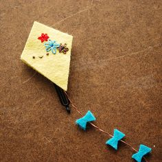 Flying Kite Hairclip by wildolive, via Flickr
