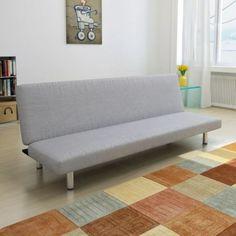 vidaXL Sofa Bed Dark Grey Home Living Room Furniture Seat Lounge Recliner for sale online Grey Sofa Bed, Couch, Sofa Bed Walmart, Canapé Design, Lounge Suites, Bed Dimensions, Grey Fabric, Fabric Sofa, Recliner