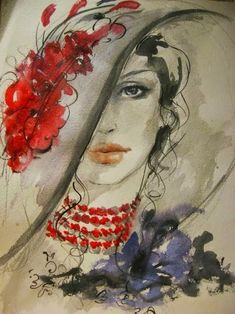 Arte Visiva: Leonard Cohen & Fatima Tomaeva ~ Non devi amarmi Watercolor Portraits, Watercolor Paintings, Watercolors, Frida Art, Pintura Country, Arte Pop, Art Themes, Face Art, Art Faces