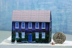 Photo Realistic Printable 18th Century House in 1:144 Scale (Micro): Introduction to Making a 1:144 scale 18th Century House Picture instructions on site