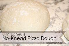 jim lahey no-knead pizza dough Pizza Recipes, Bread Recipes, Snack Recipes, Snacks, Finger Food Appetizers, Finger Foods, No Knead Pizza Dough, Jim Lahey, Baking Basics