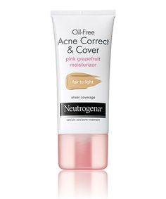 Oil-Free Acne Correct & Cover Pink Grapefruit Moisturizer Fair to Light (Fall, Winter, Spring)