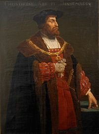 Christian II the Tyrant (1481 - 1559). King of Denmark from 1513 until his deposition in 1523. King of Norway from 1513 to 1523. King of Sweden from 1520 to 1521. He married Isabella of Austria and had six children.