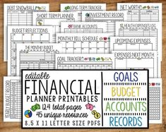 Monthly Budget Planner Printable, Finance Money Tracker, Spending Expense Tracker, Personal Home Organizer, Home Management PDF Planner : Monthly Budget Planner Printable Finance Money Tracker Monthly Budget Worksheet, Monthly Budget Planner, Budgeting Worksheets, Financial Planner, Printable Planner, Printables, Monthly Goal, Printable Budget, Monthly Expenses