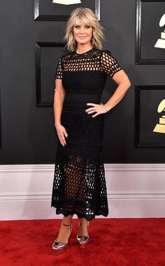 Natalie Grant from Grammys 2017 Red Carpet Arrivals  In Self-Portrait