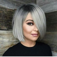 13 silver hair color ideas — celebrity silver hair dye shades shades of grey hair color chart ceresi 15 stunning … Bob Hairstyles For Round Face, Easy Summer Hairstyles, Short Hairstyles For Women, Grey Bob Hairstyles, Bob Haircut For Round Face, Scene Hairstyles, Round Face Bob, 50 Year Old Hairstyles, Chinese Bob Hairstyles