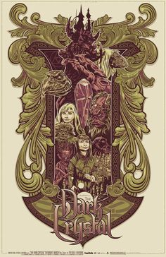 I watched The Dark Crystal so many times with my cousins when I was a kid! I love these earth tone style movie posters!
