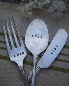 The cutest vintage, hand stamped silverware