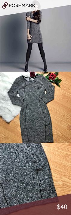 Gray Tweed Fitted Dress by Lana Del Rey for H&M Absolutely beautiful tweed style dress in gray with black detailing the front and collar of dress. This is a exclusive collection with H&M by the amazing Lana Del Rey herself! Dress is amazingly chic and professional without sacrificing comfort! Women's size small! H&M Dresses