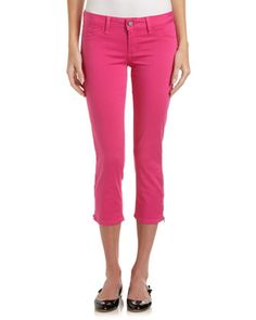 Zip-Ankle Cropped Pants, Pink Panther by FADE TO BLUE