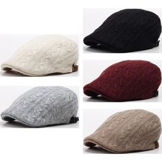 a40237c05fa New Men Twist Knit Ivy Flat Cap Newsboy Hat Gatsby Cabbie Golf Visor Beret  N154