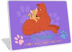 Friendship Laptop Skin #dogs #cats #kittens #puppies #pets