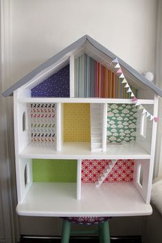 timber doll house