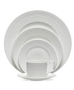 Wedgwood Dinnerware, Intaglio Collection - White Dinnerware - Dining & Entertaining - Macy's