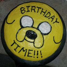 Jake the Dog Adventure Time Kid's 3rd Birthday Funfetti Cake!