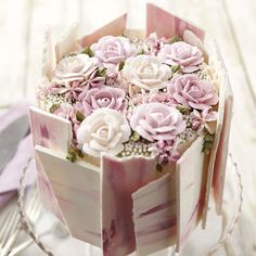 Rosy Mothers Day Cake