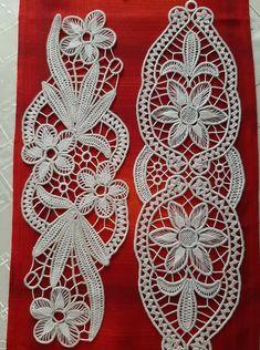 Needle Tatting, Needle Lace, Crochet Tablecloth, Crochet Doilies, Needlepoint Stitches, Needlework, Versace Jewelry, Romanian Lace, Lace Art