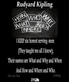 6 Honest Serving-Men by Rudyard Kipling  (The Elephants Honest Serving-Men)  #taolife