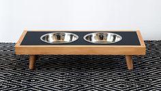 DIY Modern Raised Dog Bowls