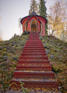 Stairs to summerhouse, in Aulanko nature park, Finland, by Teemu Tretjakov